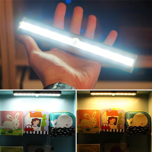 top popular Motion Sensor Night Light Potable luminaire Closet Lights Battery Powered Wireless Cabinet IR Infrared Motion Detector Indoor Wall Lamp 2021