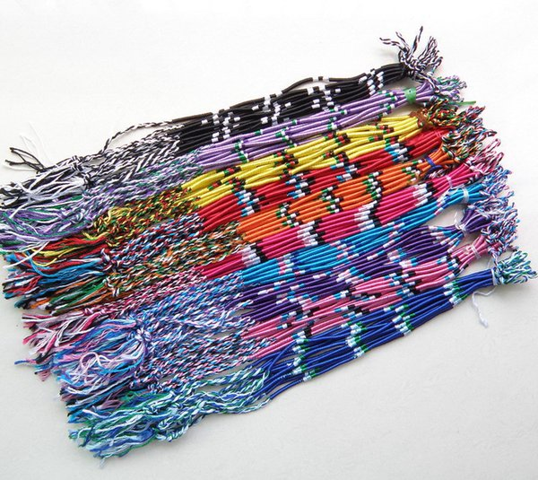 ABL0303(120), Thin Brazilian Cheap Colorful Rainbow Handmade Thread Weave Woven Braided Rope String Strand Friendship Bracelet