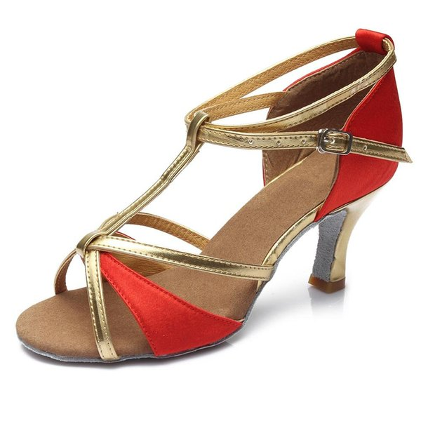 Heel 7 centímetros Red