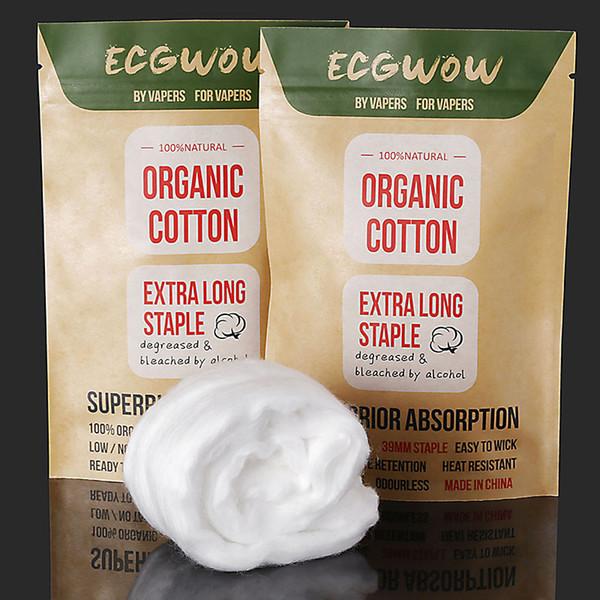 Vape Cotton Wick ECG WOW Cottons Fabric 100% Natural Organic Fibers No Break-In Time Organic Unbleached For E Cigs DIY RDA RBA Coil