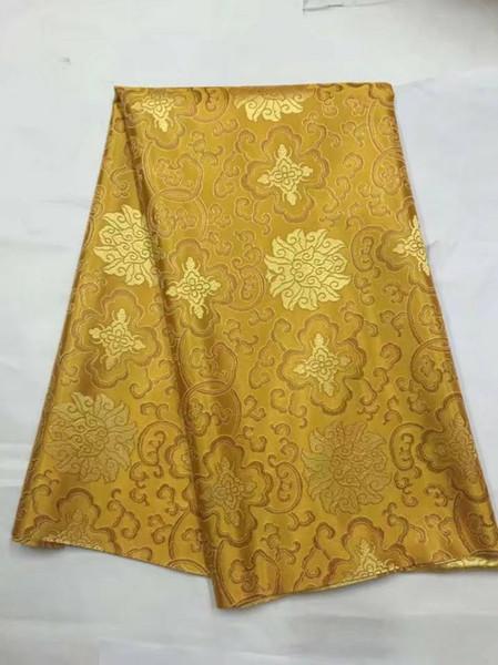 8 Meter / pc Neue mode gold afrikanischen baumwollgewebe und schöne stickerei schweizer voilespitze für kleidung JC18-1