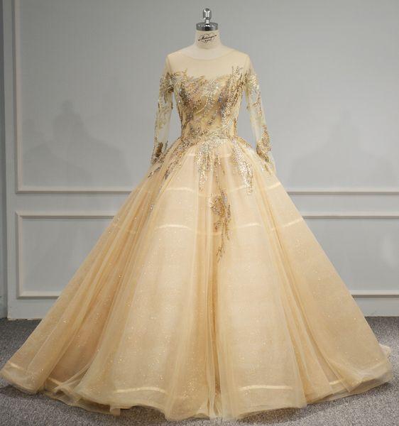 Großhandel Das Abendkleid Der Braut Hat Ein Stickereimuster Und Kann ...