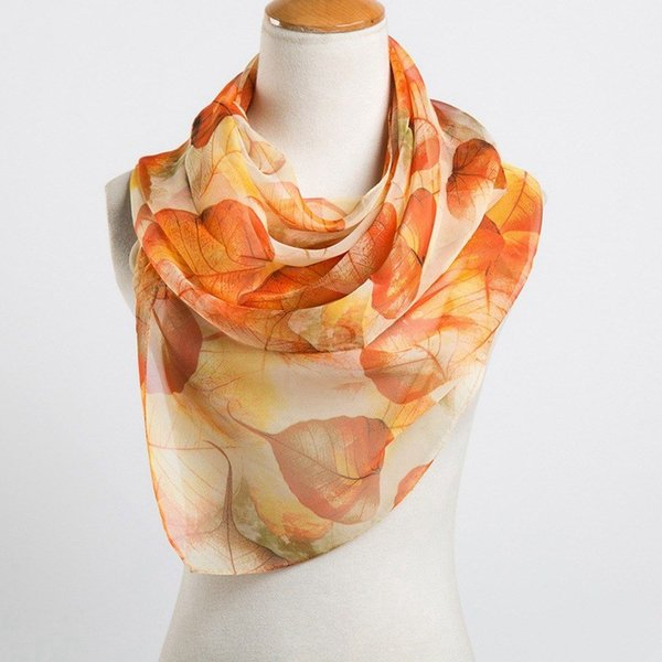 spring and summer women scarf 2018 new shawl printed cape silk chiffon Polyester tippet muffler