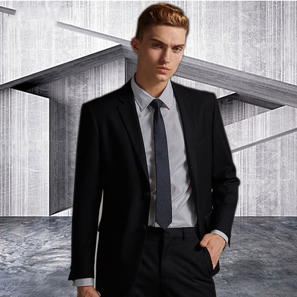 Black Custom Made MenS Blazer Masculino Formal Business Men Suits Plus Size terno masculino Suit men suits wedding 2 pieces Jacket+Pants