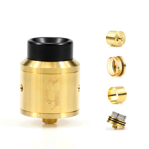 Newest GOON 25mm RDA Atomizer with Wide Bore Tip BF PIN adjustable airflow Peek Insulater Vape Tank Fit for 510 box mech mod