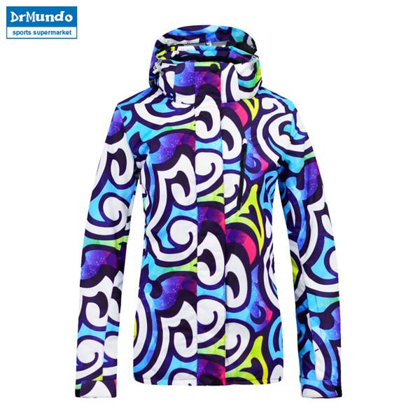 2018 New Ski Jacket Women Waterproof Winter Warm Snow Sports Jacket Thermal Coat Outdoor Mountain Skiing Snowboard Brand