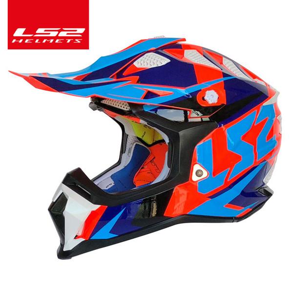 Orijinal LS2 SUBVERTER MX470 Off-Road kask ATV kir bisiklet yarışı kasko e motokros Spor LS2 KPA motosiklet kaskları