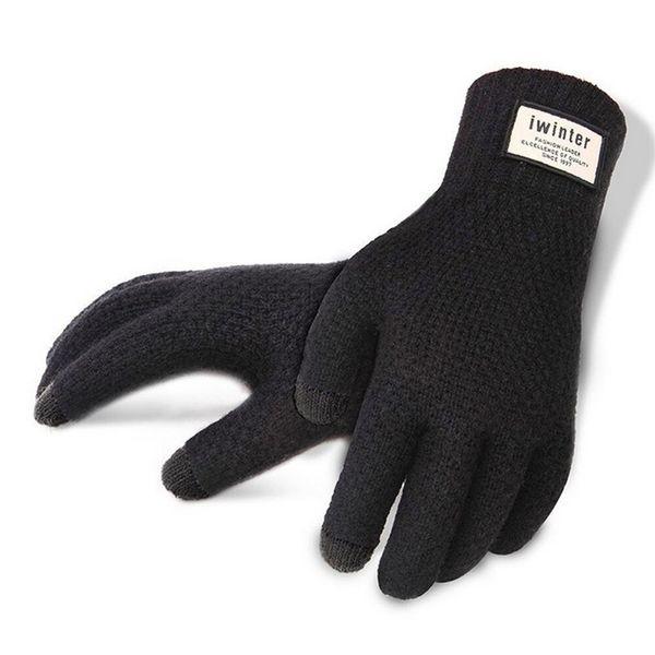 Brand Fashion Gloves men Touch Screen Wrist Glove Heated Mittens Warm Winter Gloves Free Shipping