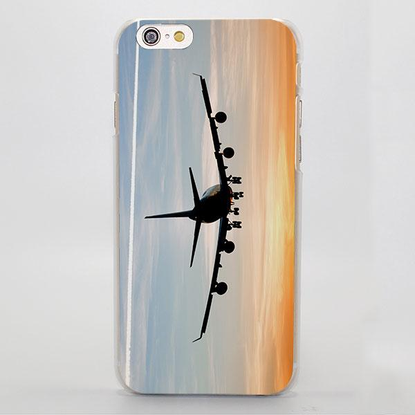Flugzeug am Sonnenaufgangflugzeugflugzeug-Landungstelefon Fall für IPhone 5 5s, 6 6s 7 8 X, 6 6s 7 8 Plus, iPod-Note 5,6, Samsung-Galaxie s8 s9.