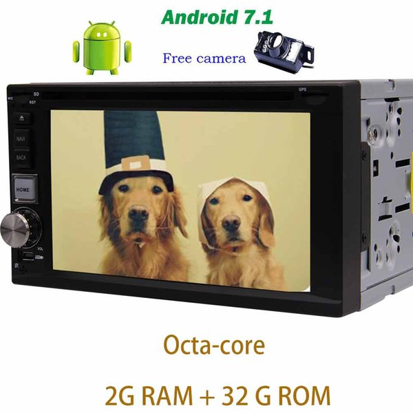 Backup camera+Eincar 6.2'' on-board computer car Android 7.1 Octa-core car DVD player GPS Navigation Double din Car Radio Stereo Head Unit