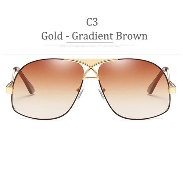 C3 Golssy Gold Frame Gradient Brown