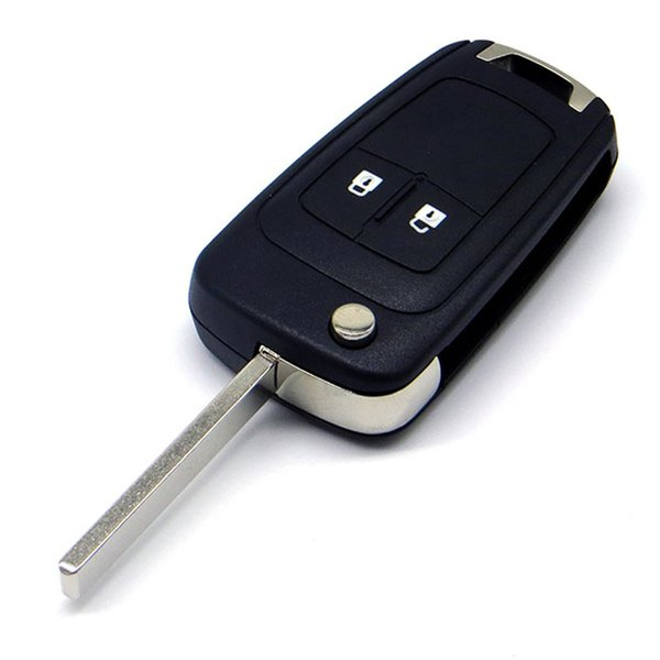 best selling WhatsKey 2 Buttons Folding Car Key Shell For Opel Vauxhall Corsa Astra Vectra Zafira Omega Remote Auto Key Case Cover With LOGO