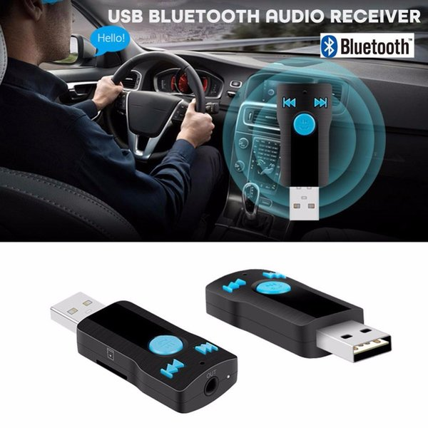 Vehemo Car Audio Adapter Bluetooth Receptor Car Kit BC07 Bluetooth V4.1 Universal Adapter Negro Automóvil manos libres