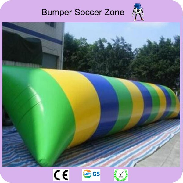 Free Shipping 9*3m 0.9mm PVC Inflatable Water Blob Jumping Pillow Water Blob Jumping Bag Inflatable Trampoline With a Pump