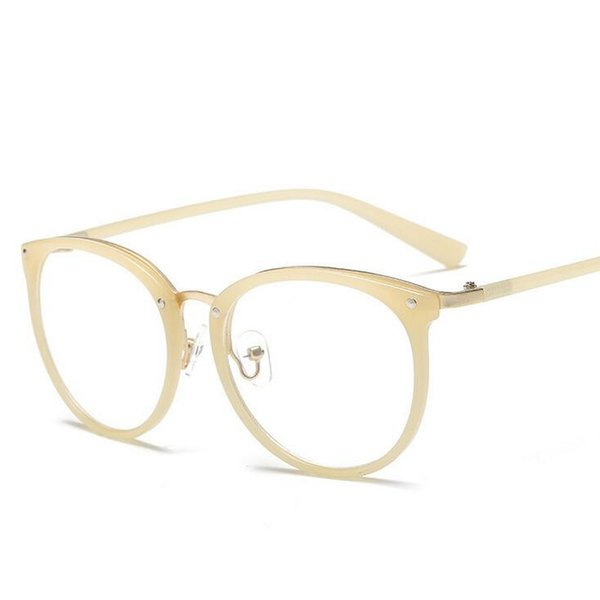 Rivets Cat eye Women Clear lens Reading glasses Can use Short sight Optical glasses Golden Nose Oculos Fashion Eyewear