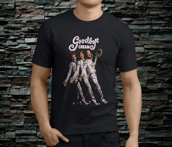 New 2018 Fashion Hot O-Neck Short New Popular Cream Band Fresh Cream Men's Black Tshirt Size S-3Xl Graphic T Shirts For Men