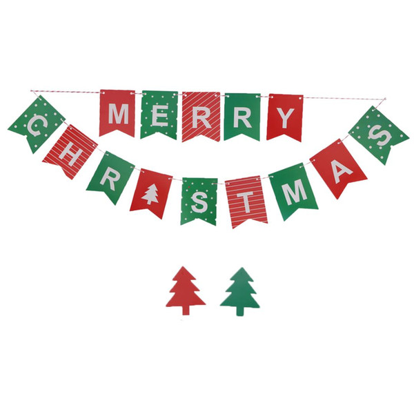 Merry Christmas Letter T.2 Meters Colorful Paper Merry Christmas Letter Pattern Garland Bunting Banners Flags Xmas Tree Pendants Door Shop Christmas Decorations Shop Christmas