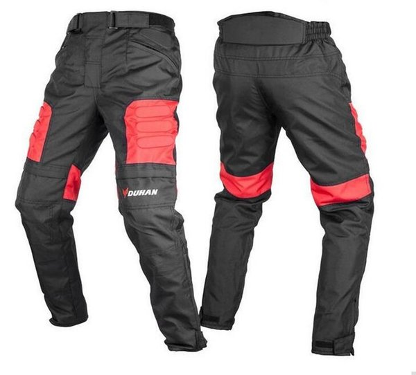 DUHAN Men's Motocross Off-Road Trousers Motorcycle Racing Windproof Riding Sports Pants Knee Protective Guards