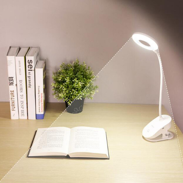 2019 Wholesale Led Touch On Off Switch Clip Desk Lamp 7000k Eye Protection Reading Dimmer Rechargeable Usb Led Table Lamps Hot Sale From Glow2018