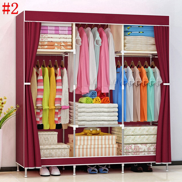 2019 HHAiNi New Huge Wooden Portable Closet 4 Rods Bedroom Wardrobe Storage  Rack Kit, Long Hanging Space From A871461251, $45.07 | DHgate.Com