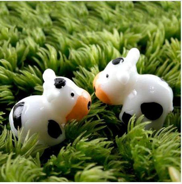 2020 Cow Resin Craft Terrarium Figurines Bonsai Micro Landscape