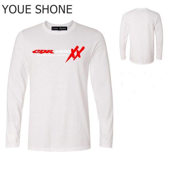 T-shirt da uomo da uomo T-shirt manica lunga da uomo T-shirt S135 TOP HONDA CBR 1100 SUPER BLACKBIRD XX T-Shirt moto Tees TOTALE Tees Polo