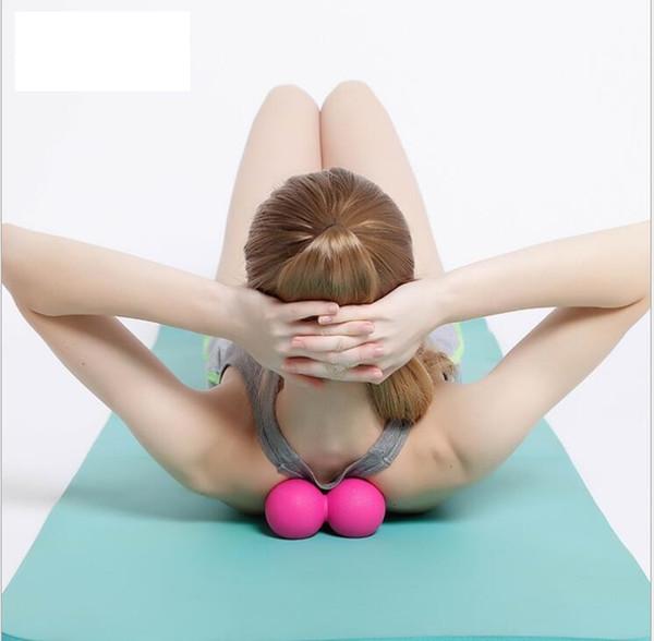Al por mayor-Body Building Yoga Doble Lacrosse Masaje Ball Movilidad Myofascial Trigger Point Release Peanut Ball Fitness Yoga Peanut Ball