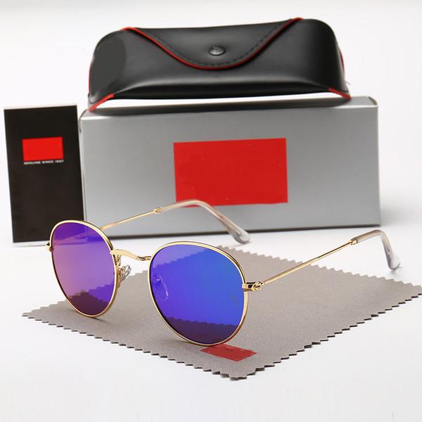Lunettes de soleil rondes classiques 3447 pour hommes femmes lunettes de soleil Unisexe Lunettes Male Oculos 13 couleurs à choisir