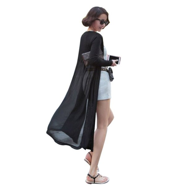 Maxi Cardigan Feminino Ankle Length Sweater Coat Women Knitted Long Sleeve Korean Vintage Black Oversized Sweaters Dress