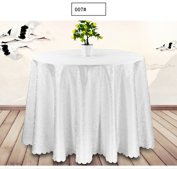 best selling Round Table Cloth Topper Tablecloth Luxury Polyester Satin Table Cover Oilproof Wedding Party Restaurant Banquet Home Decoration