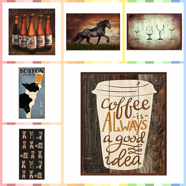 COFFEE IS ALWAYS GOOD IDEA Multi Size Luxury Home Decor Wall Poster Metal Tin Signs Bedroom Wall Decorations Crafts Art Painting Supplies