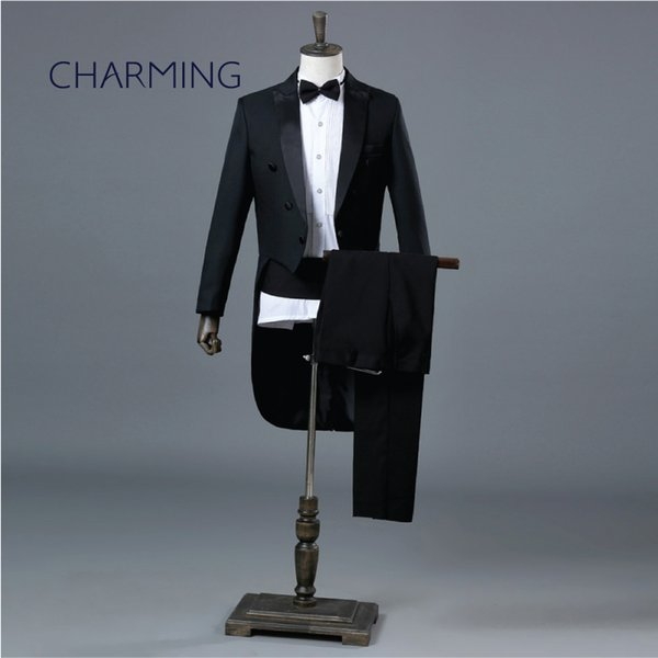 Groom tuxedo Suitable for the magician stage choir Symphony Orchestra conductor costume singer men wedding tuxedos