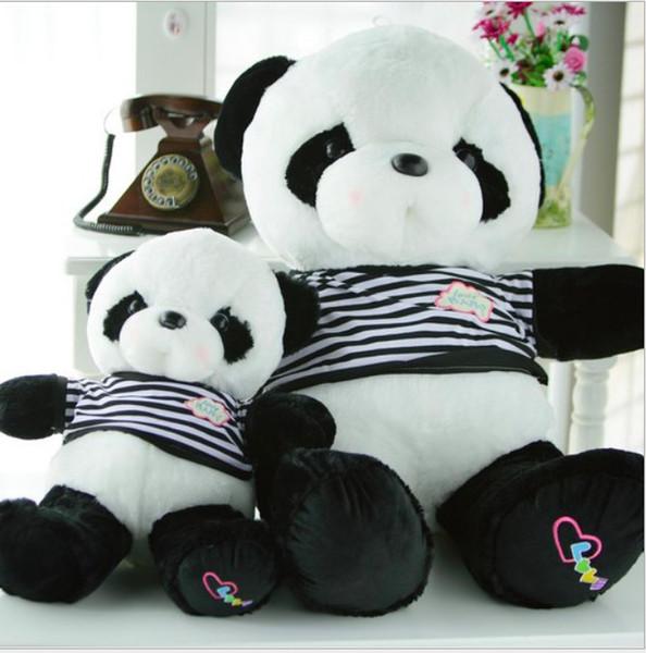Encantador oso de peluche en vestido gris gran 55-90 cm juguete de peluche panda muñeca suave tiro almohada propuesta regalo de cumpleaños