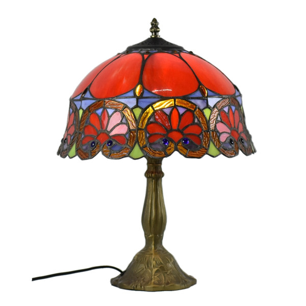 Atreus Lamp Rare Antique Vintage Brass Bronze Dale Table Tiffany Lamps 220V fit for famliy bed reading dinner room free shipping