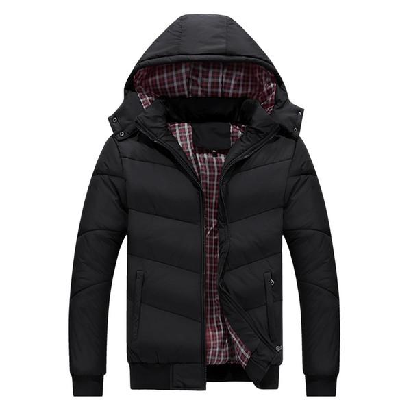 Homens jaqueta de inverno 2018 novo espessamento quente parka homens casaco de moda gola de pele com capuz zipper chapéu destacável casaco jaqueta de inverno
