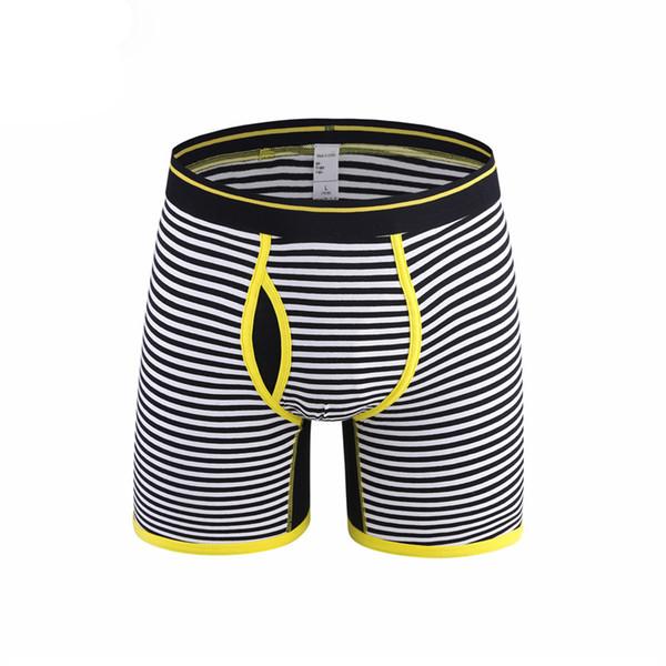 Хлопок мужские длинные ноги нижнее белье Мужчины боксеры залить Homme дышащий мужской сексуальный боксер шорты Мужские трусы сетки ткань