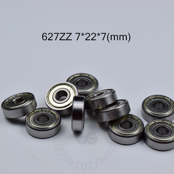 top popular 627ZZ bearing 10pcs metal Sealed Miniature Mini Bearing free shipping 627 ZZ 7*22*7mm chrome steel deep groove bearing 2021