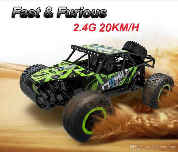 RC Auto 2,4G 20 KM / H High Speed Racing Auto Klettern Fernbedienung Carro RC Elektroauto Off Road Truck 1:18 RC Buggys drift