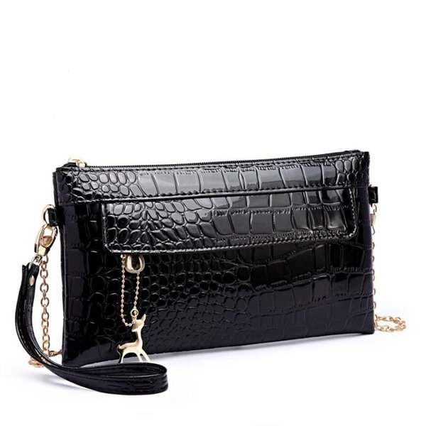 2018 Patent Leather Women Messenger Bags Small Women Shoulder Bags Fashion Lady Clutch With Deer Toy Female Purse Day clutches