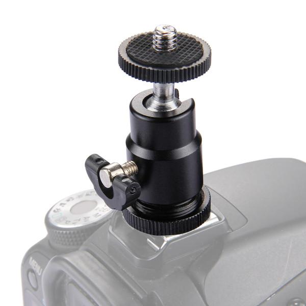 PULUZ Aluminum Rotatable Mini Tripod Ball Head 1/4