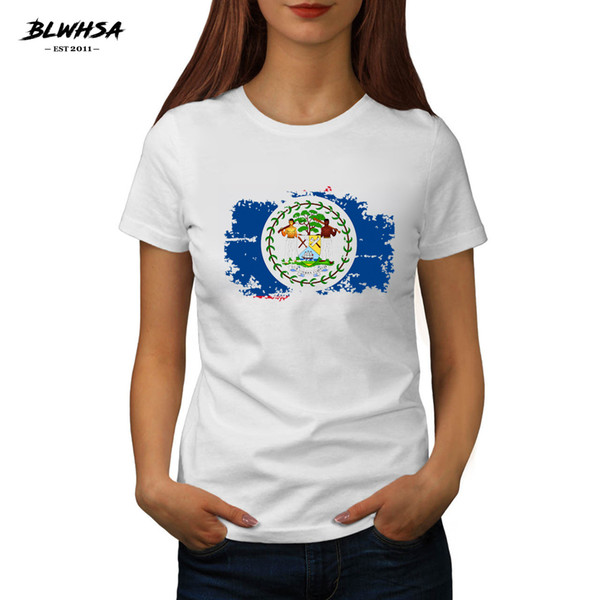 Women's Tee Blwhsa Bolivia Flag T Shirt Women Casual Short Sleeve Printed T-shirts Funny Summer Bolivia National Flag Girl Clothing