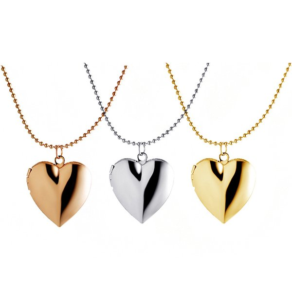 European and American fashion accessories DIY photo box wholesale new heart necklace spot alloy pendant, free shipping.