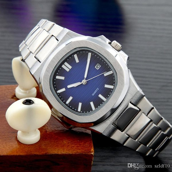Reloj casual Famous Brand Quartz-Watch Hombre Mujer caqui Leather Band Relojes Relojes Montre Homme Erkek Kol Reloj de pulsera CL18111