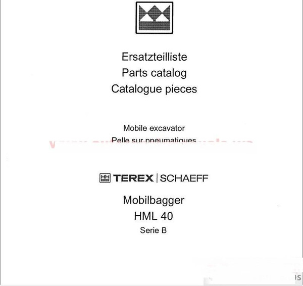 Terex Schaeff All Part Manual