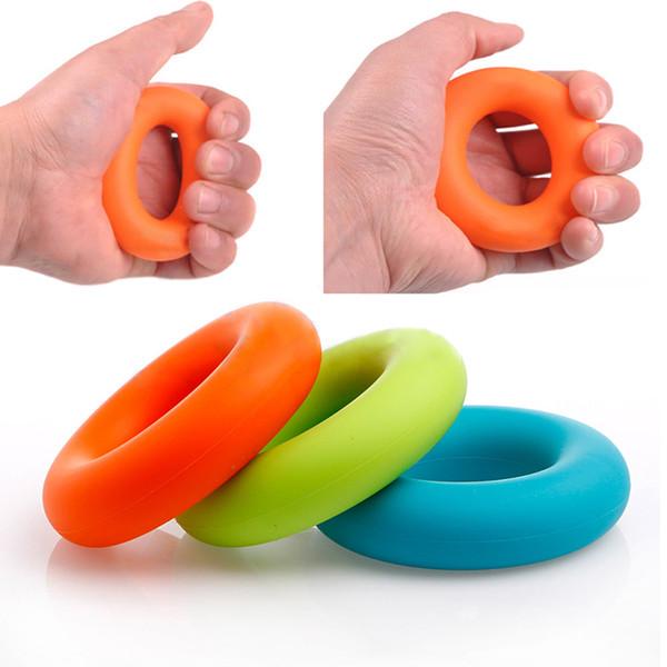 7cm Diameter Strength Hand Grip Finger Power Training Rubber Ring Exerciser Gym Expande Gripper Green/30Kg Blue/40KgOrange/50Kg