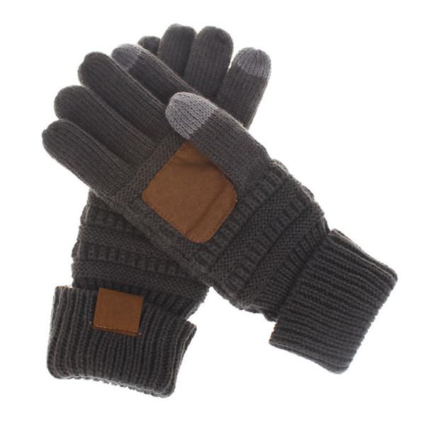 XDOMI Women Men Touch Screen Gloves Winter Knitted Gloves For Unisex Fashion Stretch Woolen Knit Warm Full Finger Mitten