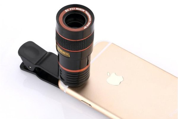 eClouds Universal Mobile Phone Lens 8X Zoom Telescope Camera Telephoto Lenses For iPhone 6s 7 Plus Samsung Galaxy S6 S7 S8 a796