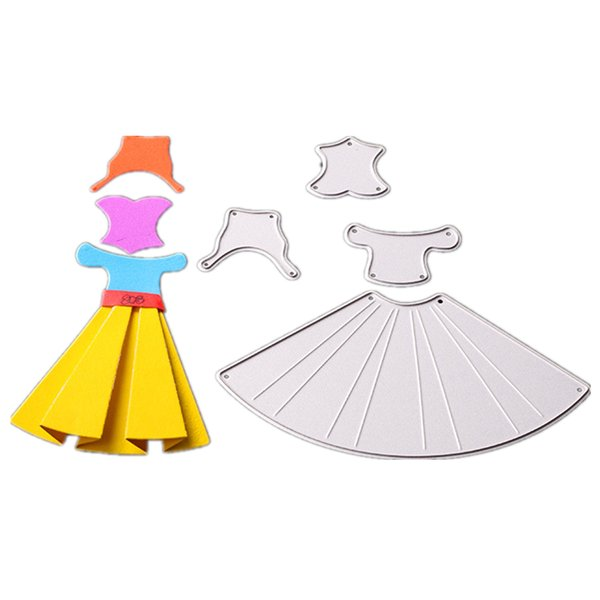 DIY Cards Making Embossing Stencil Dressing Girl Cutting Dies Scrapbooking
