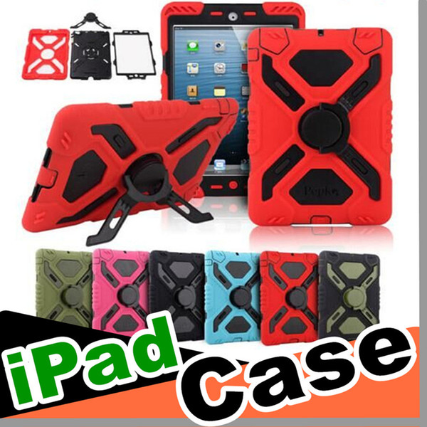 Pepkoo Defender Spider Extreme Military Heavy Duty Waterproof Dust Shock Proof with stand Hang cover Case For iPad/ipad mini/ipad air case