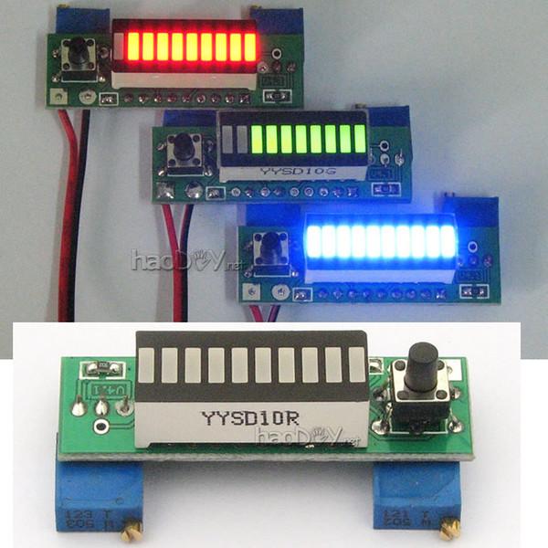 Freeshipping Diy Kits LM3914 10 Segment 5V 12V Battery Capacity Power Level Display Green LED Indicator